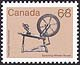Canada, 68¢ Spinning wheel, 1 August 1985