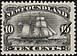 Newfoundland, 10¢ [Brigatine], January 1888