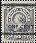 Newfoundland, 1¢ [on 3¢] [Victoria], 19 October 1897