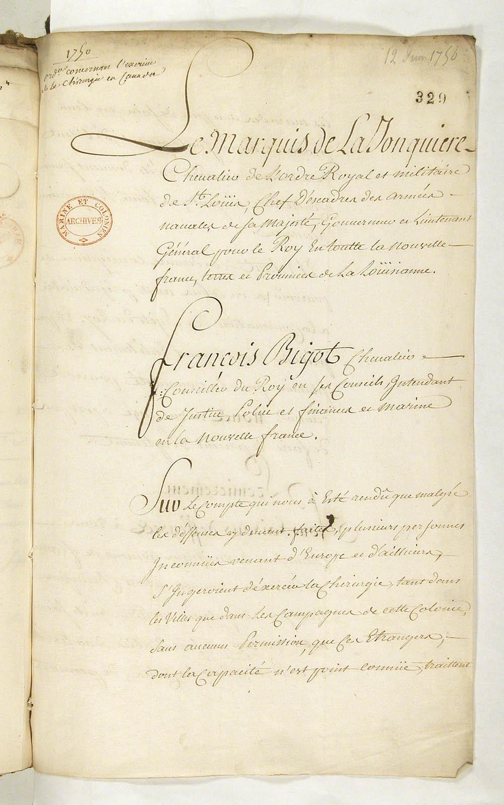 gouverneurs coloniaux de la louisiane