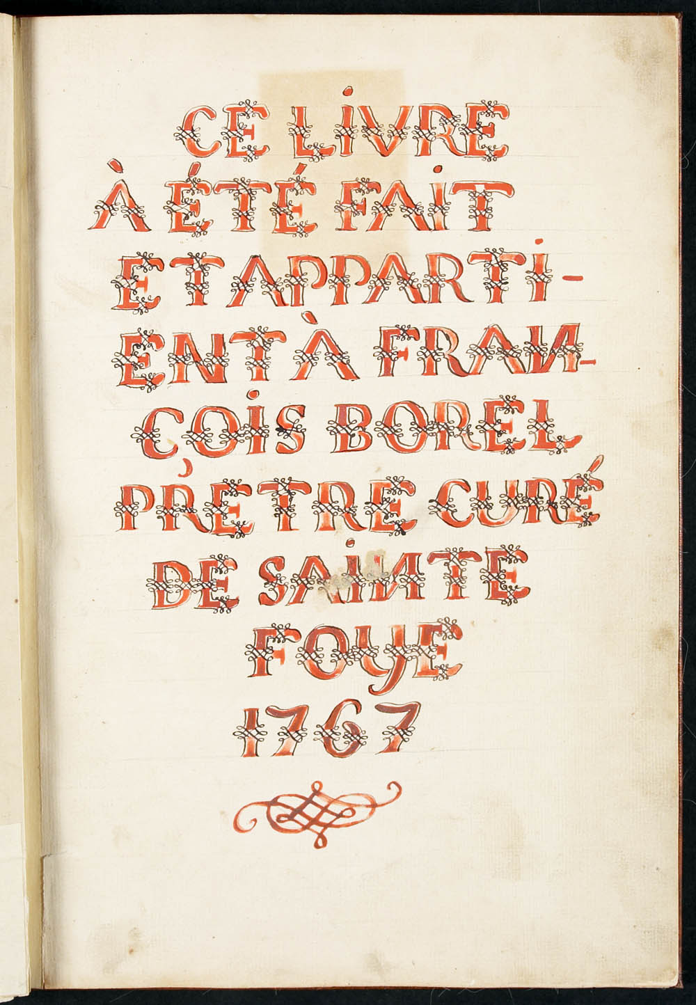 Book of Gregorian chant, François-Xavier Borel, 1767, CA ANC MG18-E21