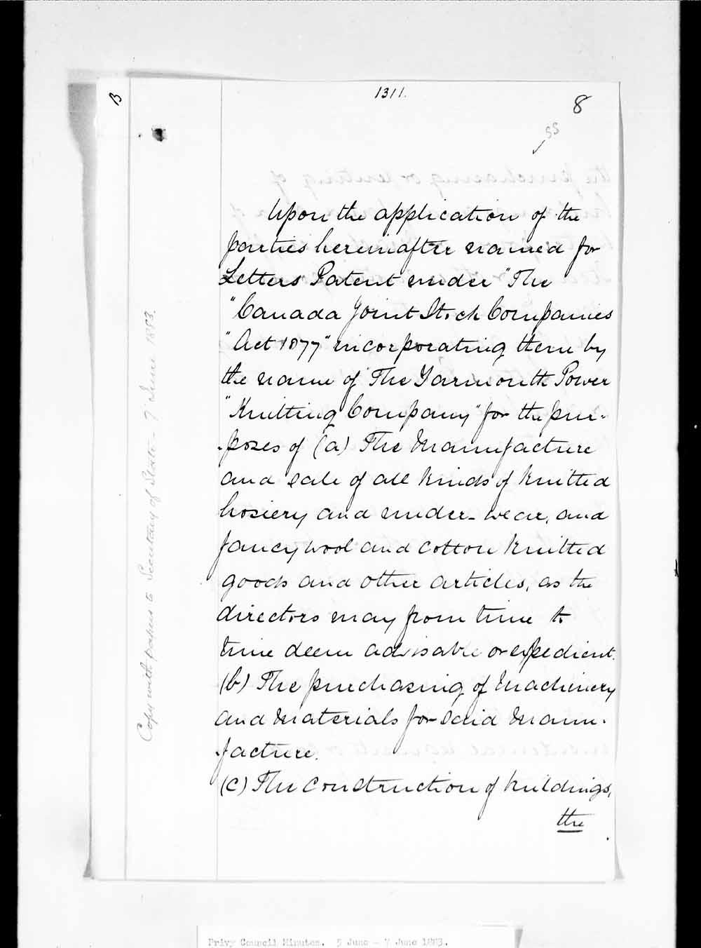Nova Scotia History Index Royal Enfield Bullet Wiring Diagram Oic 1883 1311 Page 1