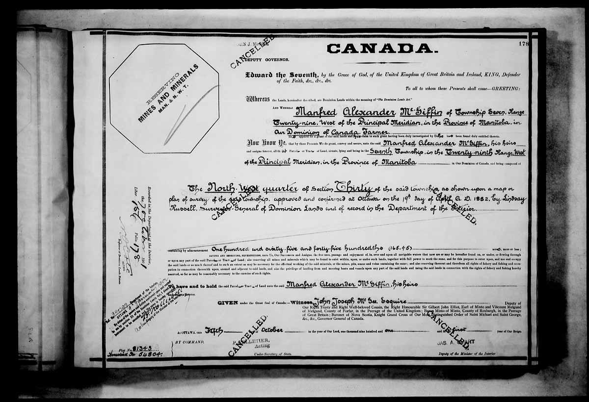 1901 Land Grant