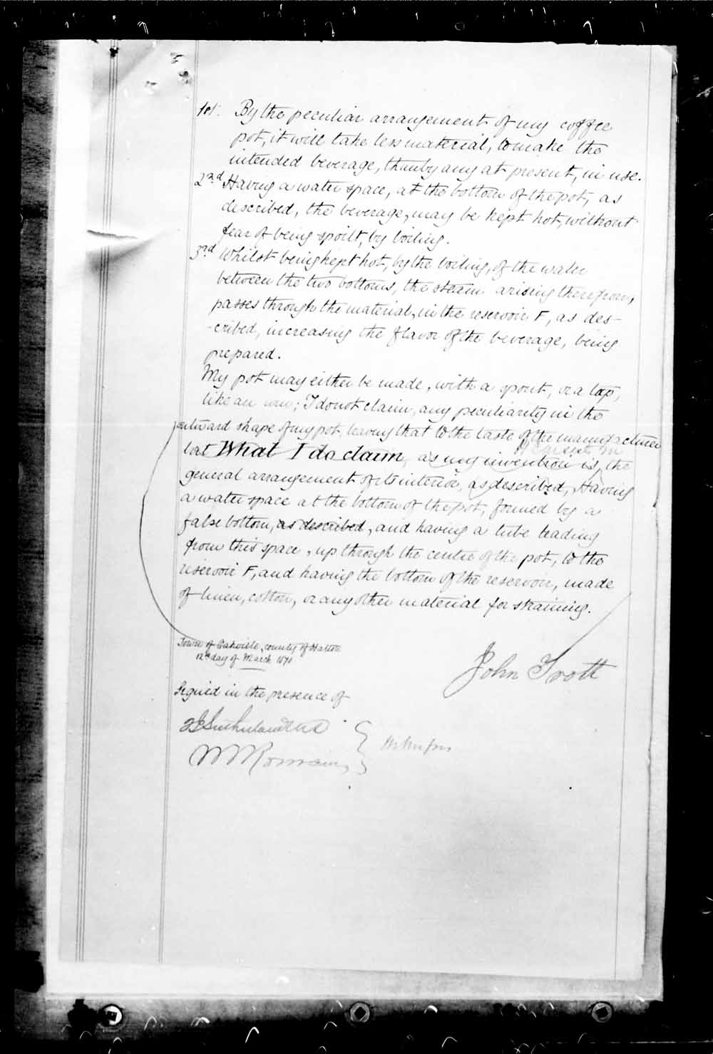 Digitized page of Canadian Patents, 1869-1919 for Image No.: e003228638