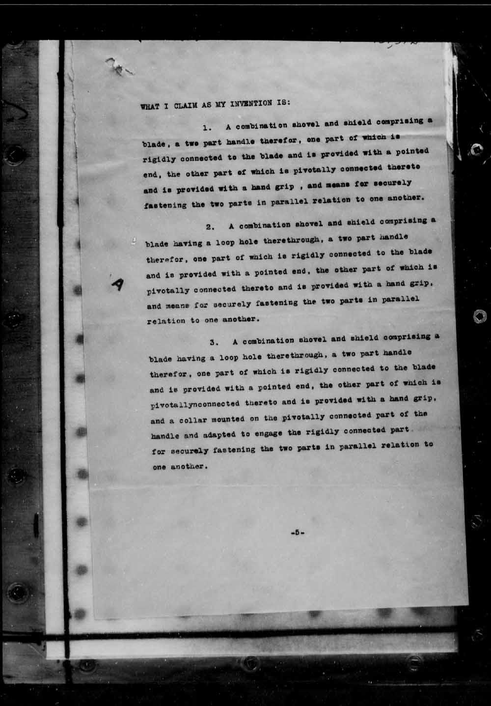Page numérisé de Brevets canadiens, 1869-1919 pour l'image numéro: e005691678