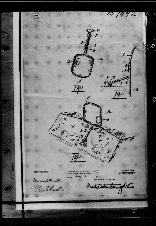 Page numérisé de Brevets canadiens, 1869-1919 pour l'image numéro: e005691679