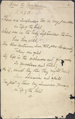 Yellowed page with black handwriting