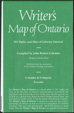 Green map cover with white print