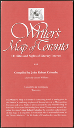 Red map cover with white print