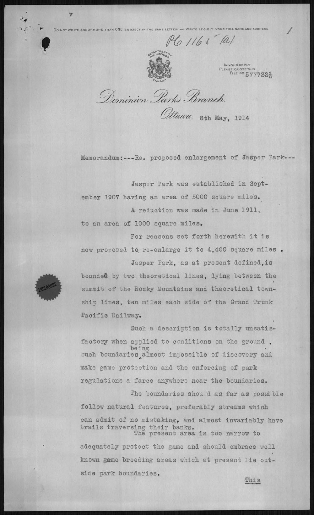 Digitized page of Orders in Council for Image No.: e010877242-v8